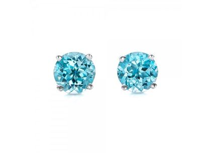 Blue-Topaz-Stud-Earrings-front-100929